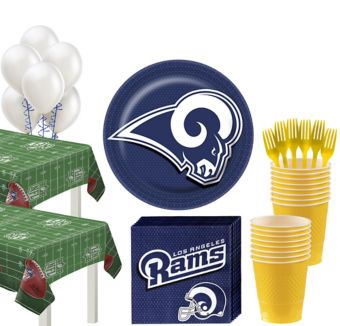 Los Angeles Rams Deluxe Party kit for 36 Guests