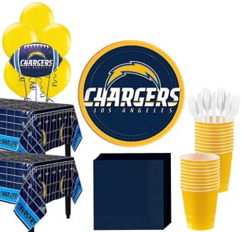 San Diego Chargers Deluxe Party kit for 36 Guests