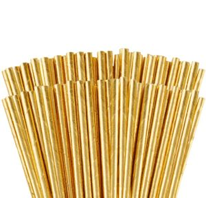 Metallic Gold Paper Straws 144ct