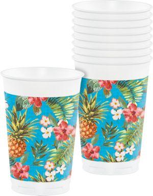 Aloha Hawaiian Plastic Cups 8ct