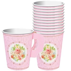 Floral Tea Party Cups with Handles 8ct