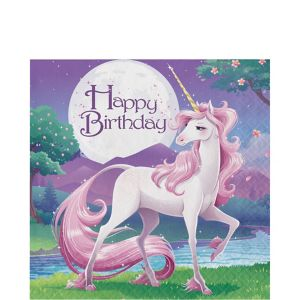 Unicorn Happy Birthday Lunch Napkins 16ct