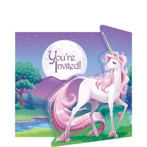 Unicorn Invitations 8ct