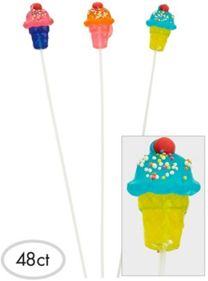 Ice Cream Sparklepops Lollipops 48ct
