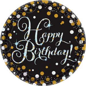 Prismatic Birthday Lunch Plates 8ct - Sparkling Celebration