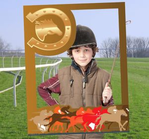 Giant Horse Racing Photo Booth Frame