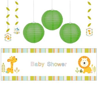 Happy Jungle Boy Decorations Shower Kit