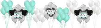 Always & Forever Bridal Shower Decorating Kit with Balloons