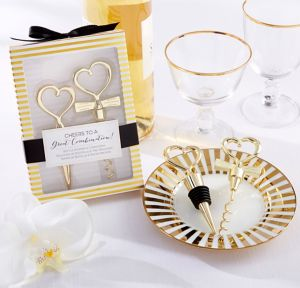 Cheers to a Great Combination Gold Wine Set 2pc