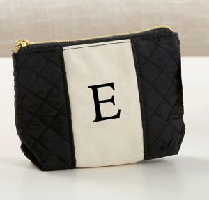 Black & White Monogram E Makeup Bag
