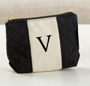 Black & White Monogram V Makeup Bag