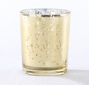 Gold Mercury Glass Votive Candle Holders 4ct