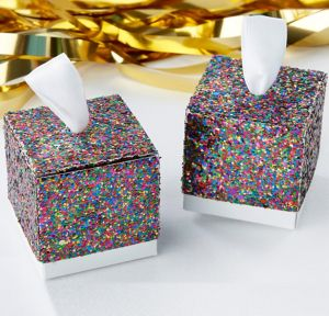 Glitter Rainbow Favor Boxes 24ct