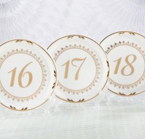 Tea Time Plate Table Numbers 13-18