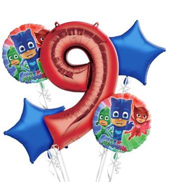 PJ Masks 9th Birthday Balloon Bouquet 5pc