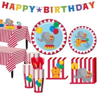 Carnival 1st Birthday Party Kit for 32 Guests