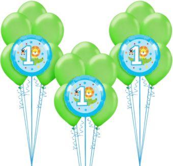 Blue One is Fun 1st Birthday Balloon Kit