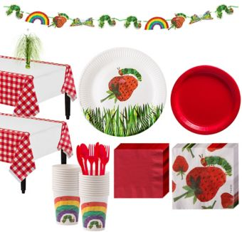 Hungry Caterpillar 1st Birthday Party Kit for 12 Guests