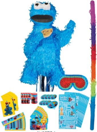 Cookie Monster Pinata Kit with Favors