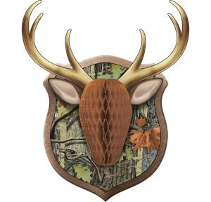 Hunting Camo Antler Honeycomb Wall Decoration