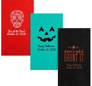 Personalized Halloween Premium Guest Towels
