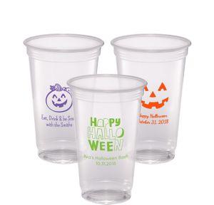 Personalized Halloween Plastic Party Cups 20oz