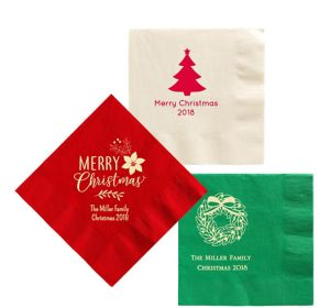 Personalized Christmas Lunch Napkins
