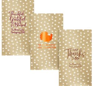 Personalized Thanksgiving Small Dots Guest Towels