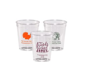 Personalized Thanksgiving Hard Plastic Shot Glasses 2oz
