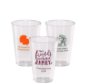 Personalized Thanksgiving Hard Plastic Cups 14oz