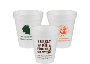 Personalized Thanksgiving Foam Cups 6oz