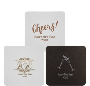 Personalized New Year's 40pt Square Coasters