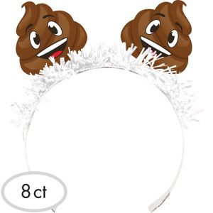 Poop Icon Tiara Headbands 8ct