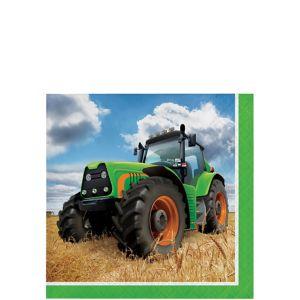 Tractor Beverage Napkins 16ct
