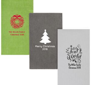 Personalized Christmas Bella Guest Towels