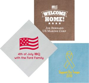 Personalized 4th of July Bella Dinner Napkins