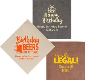 Personalized Milestone Birthday Bella Dinner Napkins