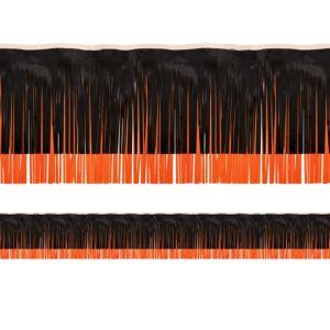 Black & Orange Fringe Decoration