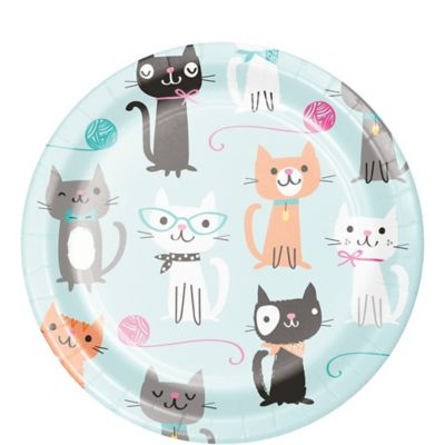 Home Garden Party Supplies Purr Fect Kitty Cat Photo Booth Props Girls Birthday Decorations