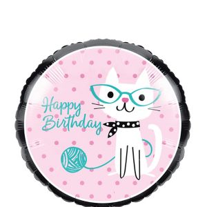 Purrfect Cat Birthday Balloon