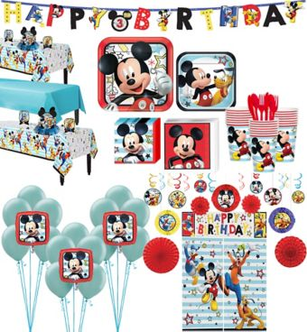 Mickey Mouse Tableware Ultimate Kit for 24 Guests