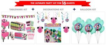 Minnie Mouse Tableware Ultimate Kit for 16 Guests