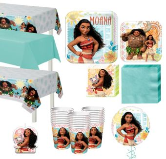 Moana Tableware Party Kit for 24 Guests