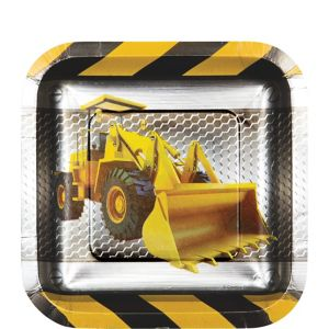 Construction Zone Dessert Plates 8ct