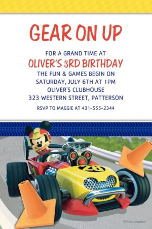 Custom Mickey & the Roadster Racers Invitations