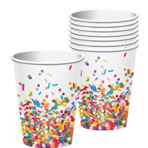 Rainbow Sprinkles Cups 8ct