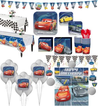 Cars 3 Tableware Ultimate Kit for 16 Guests