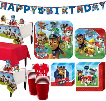 Paw Patrol Tableware Party Kit for 24 Guests