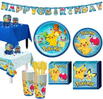 Pokemon Tableware Party Kit for 16 Guests