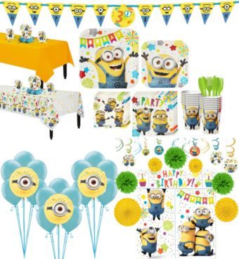 Minions Tableware Ultimate Kit for 16 Guests